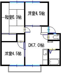 兵庫県神戸市西区北別府 5丁目の賃貸アパートの間取り
