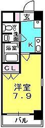 プレジール阪神西宮[5階]の間取り