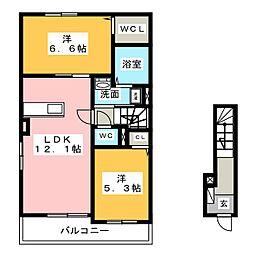 ラベイユ[2階]の間取り