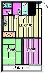 メゾン石井[1階]の間取り