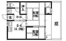 菊香荘当社管理物件7つのゼロ[101号室]の間取り