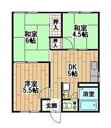タウニィ熊西[1階]の間取り