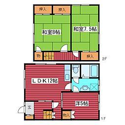[タウンハウス] 北海道札幌市豊平区福住一条9丁目 の賃貸【北海道 / 札幌市豊平区】の間取り