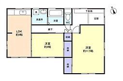 [一戸建] 千葉県八千代市下市場2丁目 の賃貸【千葉県 / 八千代市】の間取り