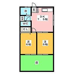 グランパスム−ド[2階]の間取り
