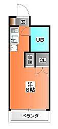 東京都北区東十条2の賃貸マンションの間取り
