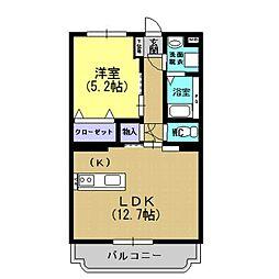 モンパルナス室田[2階]の間取り