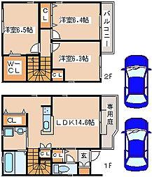 [テラスハウス] 兵庫県神戸市西区玉津町小山 の賃貸【/】の間取り