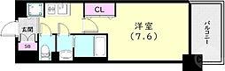 神戸市西神・山手線 上沢駅 徒歩3分の賃貸マンション 11階1Kの間取り