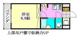 ラ・コート・ドール津田沼[218号室]の間取り