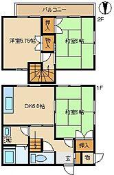 [テラスハウス] 東京都町田市金森東1丁目 の賃貸【東京都 / 町田市】の間取り