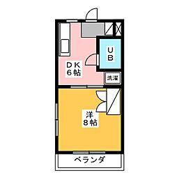 メゾン・メルベーユ[1階]の間取り