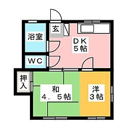 丸三荘[2階]の間取り
