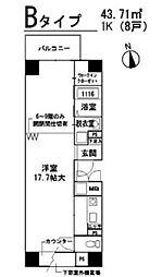 タカラハウス四ツ橋[203号室号室]の間取り