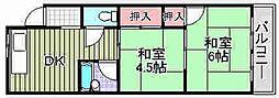 藤田マンション[17号室]の間取り