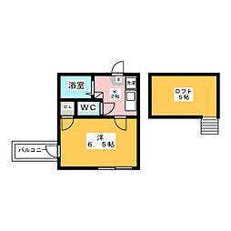 トルナーレ箱崎宮[1階]の間取り