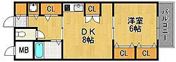 プレミール武庫之荘[1階]の間取り