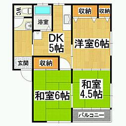 ライトグリーンハウス[1階]の間取り