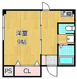 宮之阪ハイツ参番館[3階]の間取り