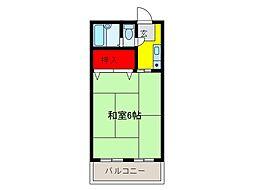 本田マンション 2号棟[5階]の間取り