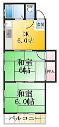 ハイツ鈴孝II[4階]の間取り