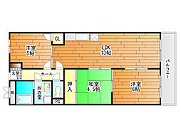 セレーナ喜志3番館I[3階]の間取り