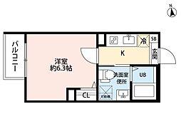 名古屋市営名城線 ナゴヤドーム前矢田駅 徒歩3分の賃貸アパート 1階1Kの間取り