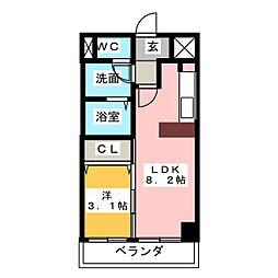 CASA DEL SOL[2階]の間取り