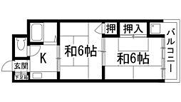 兵庫県宝塚市山本中1丁目の賃貸マンションの間取り