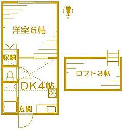 ラ・ソネット桜台[1階]の間取り