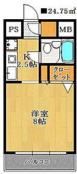 ヴェルス本八幡[2階]の間取り