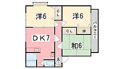 バードレイク福島[101号室]の間取り