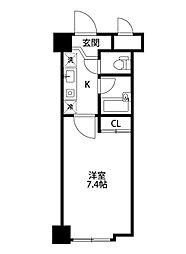 ワンノール米山A棟[218号室]の間取り