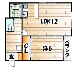 ポートサイドAビル[3階]の間取り
