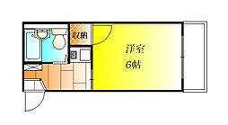 モンシャトー松原[1階]の間取り