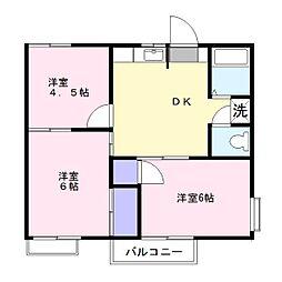 コーポ・ウィ[2階]の間取り
