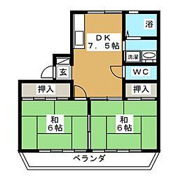 TレジデンスI[2階]の間取り