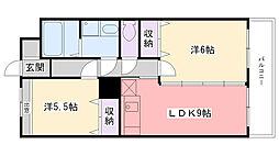 Grand Residence西宮(旧ゴールドマンション[503号室]の間取り