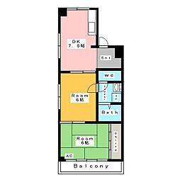 サンハイム南町[2階]の間取り