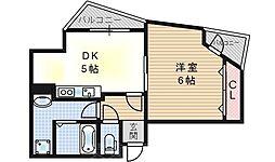 サンハイツ西九条[3階]の間取り