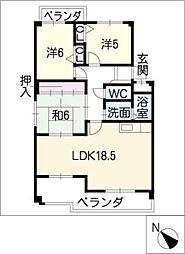 パークタウン柱[3階]の間取り