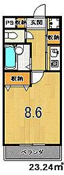 元土御門[305号室]の間取り