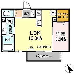 コレサ新井田公園[2階]の間取り