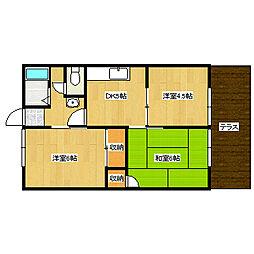 兵庫県神戸市垂水区歌敷山1丁目の賃貸アパートの間取り