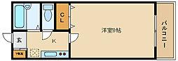 リブレ藤井寺[1階]の間取り