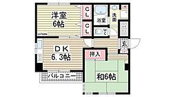 コンフォート福住[502号室]の間取り