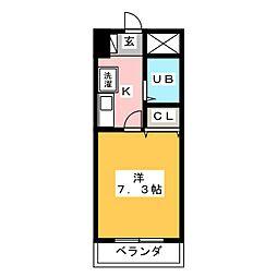 グランメールKAZU[8階]の間取り