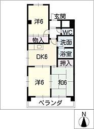 大曽根東マンション[3階]の間取り
