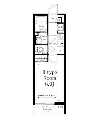 JR横浜線 町田駅 徒歩11分の賃貸マンション 3階1Kの間取り