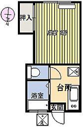 第3元町コーポ[102号室]の間取り